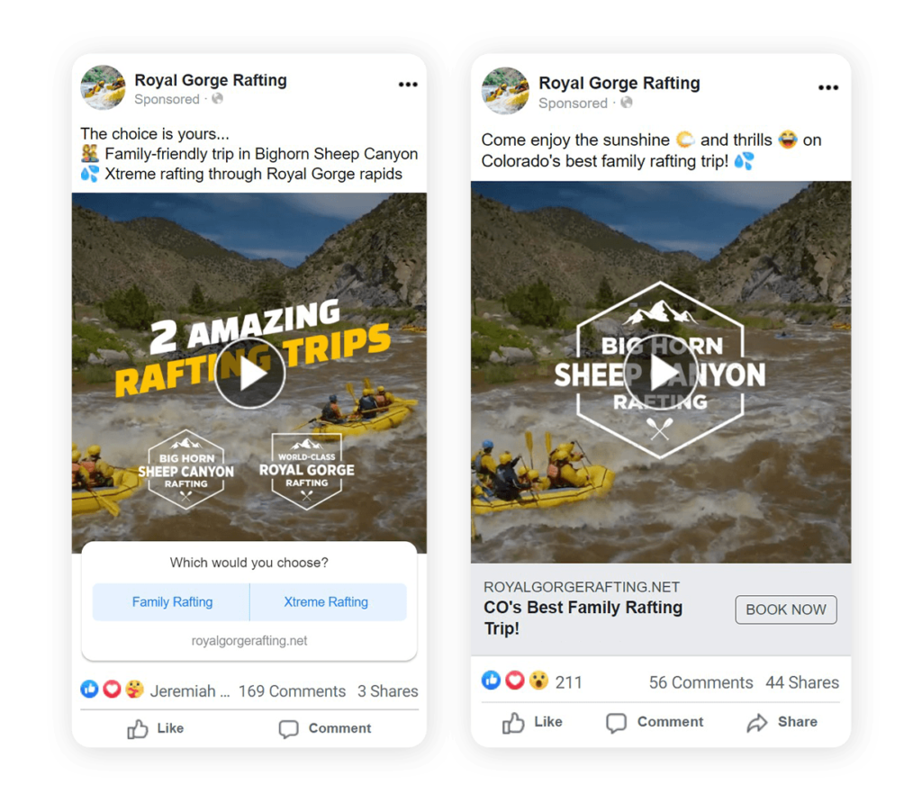 Examples of Tourism remarketing video ads and how to segment audiences
